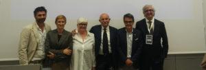 From left: Federico Bartoli, Salina Ferretti, Giovanna Ceolini, Siro Badon, Giampietro Melchiorri, Pasquale Della Pia